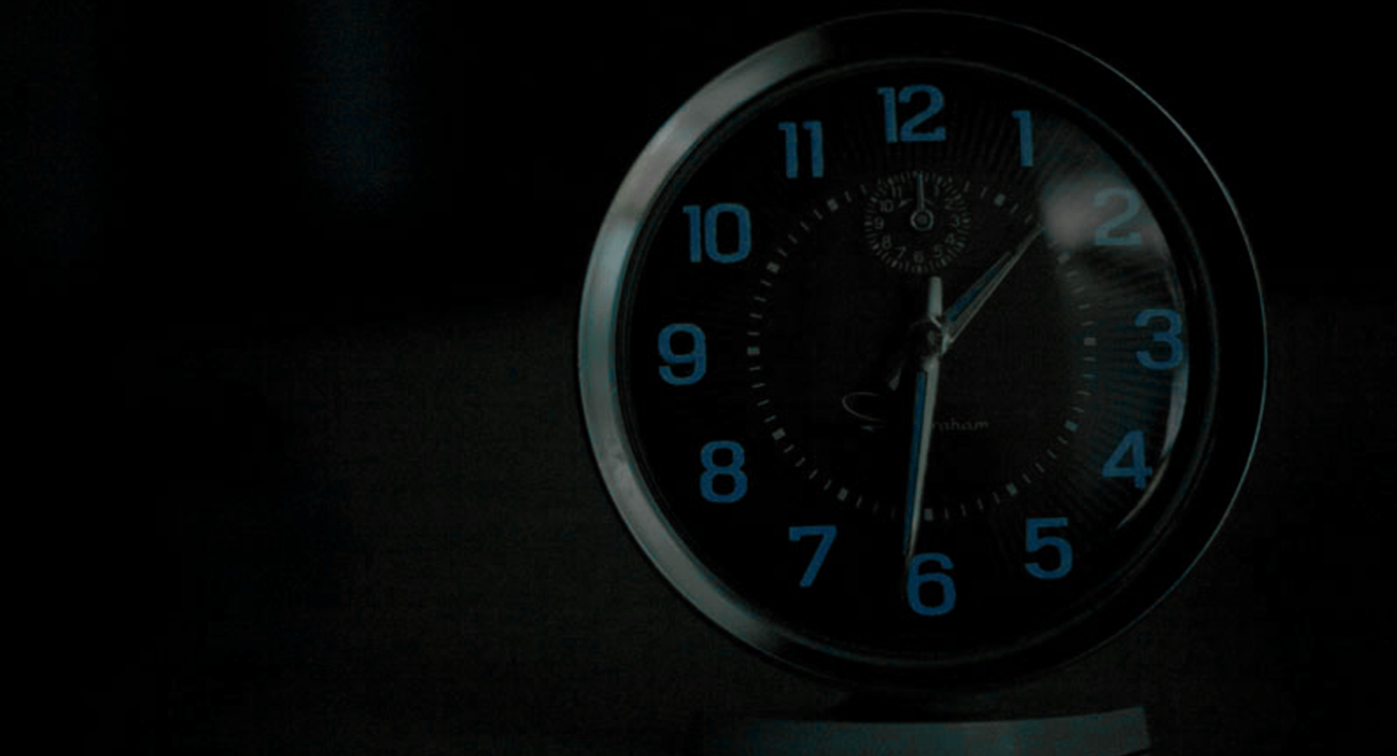 On Time Blue Clock - Header