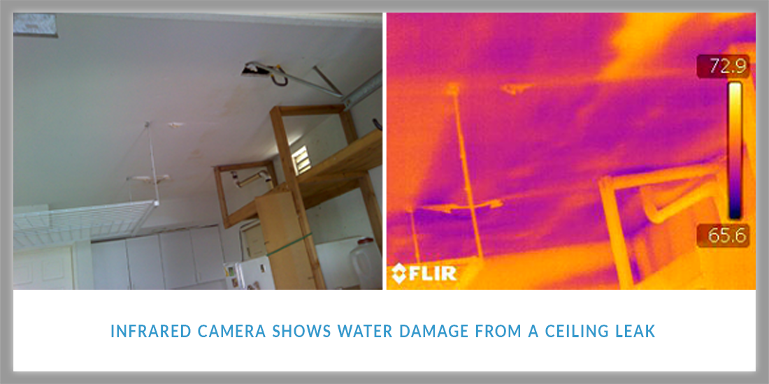 INFRARED CAMERA SHOWS WATER DAMAGE